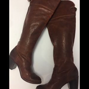 "Frye Shoes - Frye Dark Brown 3"" Heel Boots"